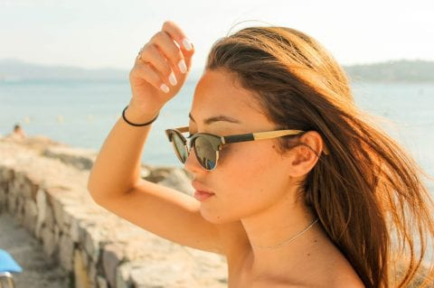 Imagine a pair of sunglasses made of stone and natural wood